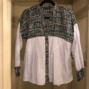 Oversize women's dress shirt